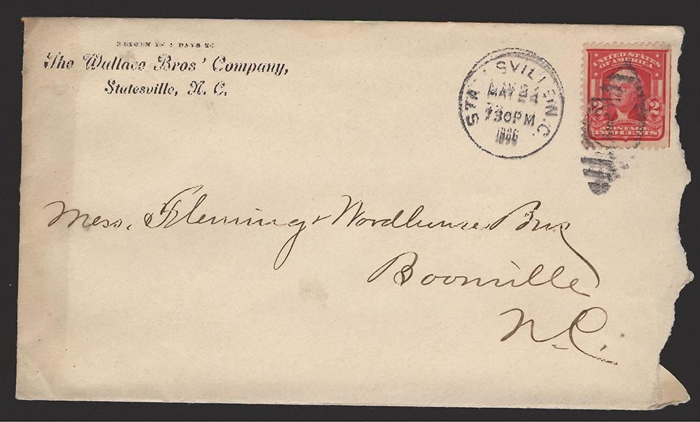 A torn envelope from 1907